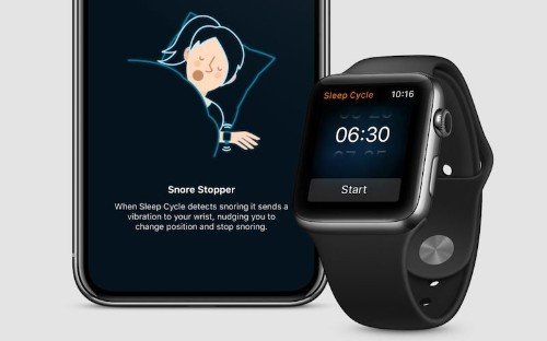Popular Sleep Cycle iPhone App Expands to Apple Watch With 'Snore Stopper' and Haptic Wake Up Features