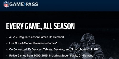 NFL 'Game Pass' With On-Demand Game Broadcasts Coming to Apple TV