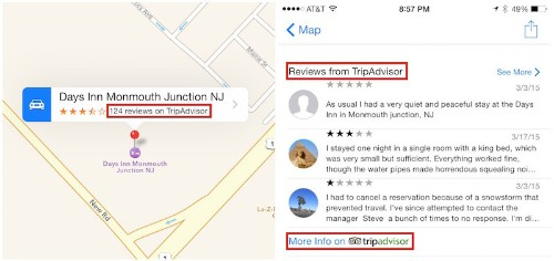 Apple Maps Now Includes Hotel Reviews From TripAdvisor and Booking.com