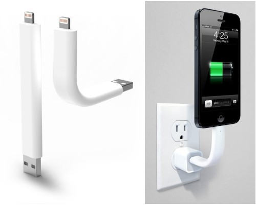 'Trunk' Posable Lightning Cable Doubles as iPhone Stand