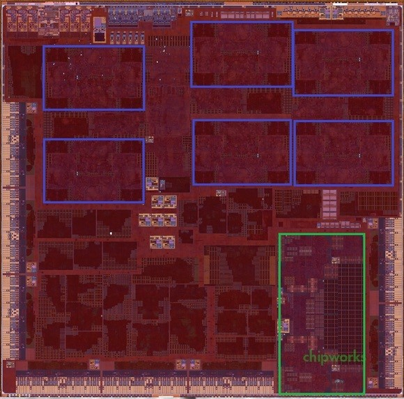 A9X Die Photo From iPad Pro Reveals 12-Cluster Graphics, No L3 Cache