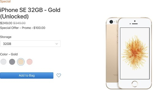$249 iPhone SE Temporarily Back in Stock on Apple's Clearance Site