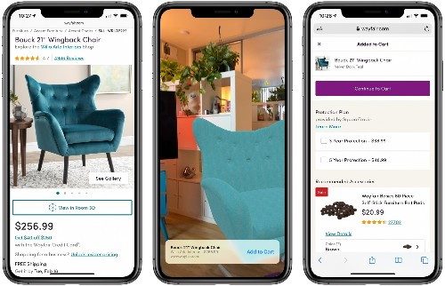 Apple Enhances Augmented Reality Quick Look Feature in Safari With Links to Make Shopping Online Easier