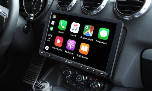 Sony's Latest CarPlay Receiver Features a Large 8.9-Inch Touchscreen That Hovers Over the Dashboard