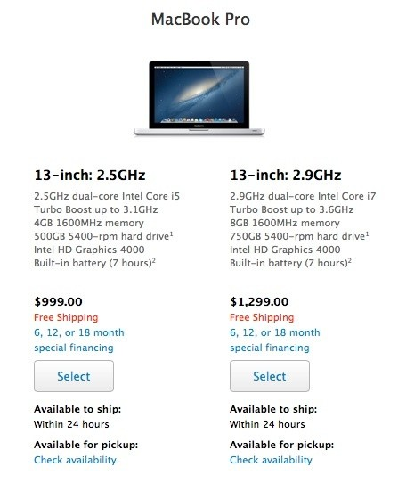 Apple Cuts Education Pricing on Non-Retina 13-Inch MacBook Pro, Now Starts at $999