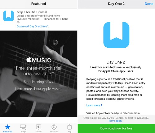 Apple Now Offering 'Day One 2' for Free in 'Apple Store' App