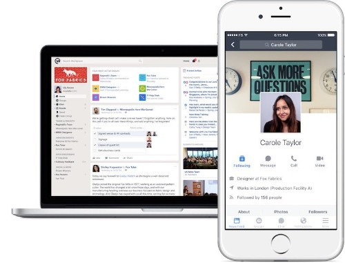 Facebook Launches New Team Collaboration Tool Called 'Workplace'