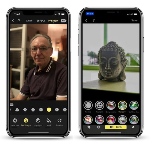 Portrait Camera App 'Focos' Gains Real Lens Optical Effects and Improved Shooting Mode