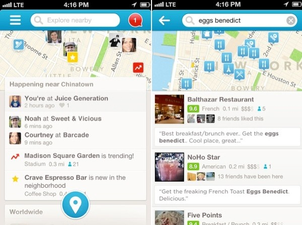 Foursquare Update Brings Explore to the Forefront of the App
