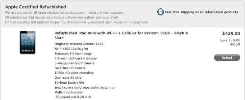 Apple Offers Refurbished iPad Mini and 4th-Generation iPad for First Time