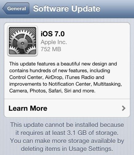 iOS 6 Users Expressing Discontent Over Automatic iOS 7 Over-the-Air Downloads