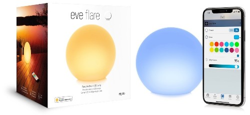 Eve Systems' Portable 'Flare' Lamp With HomeKit Support Launches in the U.S. and Canada