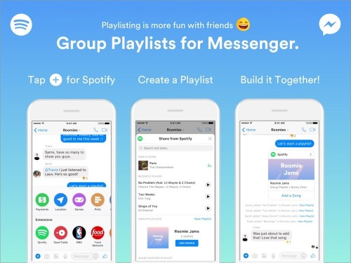 Spotify Announces Group Playlists for Messenger