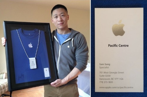 Former Apple Employee Sam Sung Auctioning Business Card and Uniform for Charity