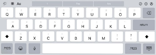 How to Use the iPad's Nifty Flick Keyboard Feature
