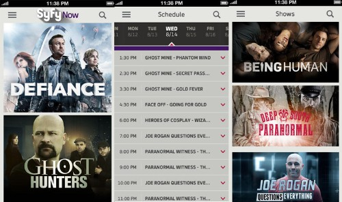 'Syfy Now' Launches for iOS with Greater Access to Content, iCloud Syncing