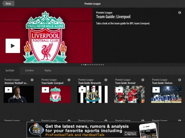NBC Streaming All English Premier League Football Matches in U.S. via NBC Sports Live Extra App