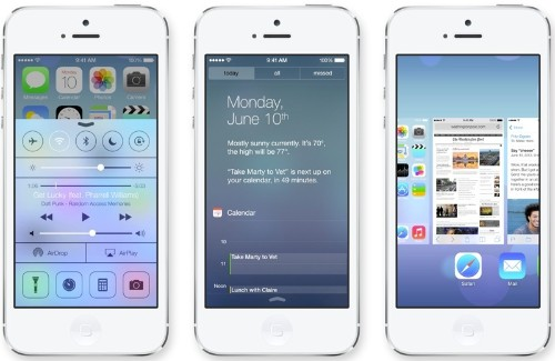 Apple Unveils iOS 7 with Major Design Overhaul, Multitasking and Control Center