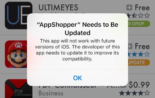 iOS 10.3 Beta Says 32-Bit Legacy Apps Will Not Work With Future Versions of iOS