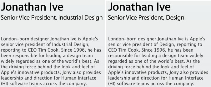 Jony Ive Gets Title Change, Now Senior Vice President of Design