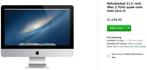 Refurbished Late 2013 21.5-Inch iMac Debuts in Apple's Online Store