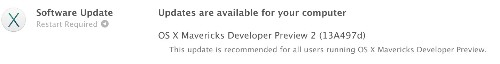 Apple Releases OS X Mavericks Developer Preview 2