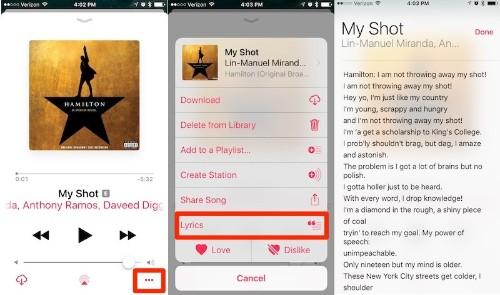 How to Use Apple Music Lyrics in iOS 10