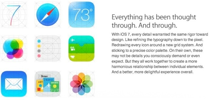 Alternate Icons on iOS 7 Website Likely Old Marketing Material