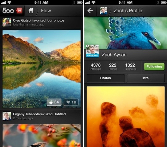 500px Updated with Performance Enhancements and Flow for iPad