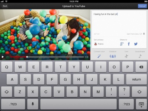 YouTube Extends 'Capture' App to iPad to Film and Share Videos