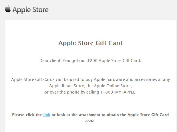 Malicious Apple Store Gift Card Scam Emails Target Users with Malware