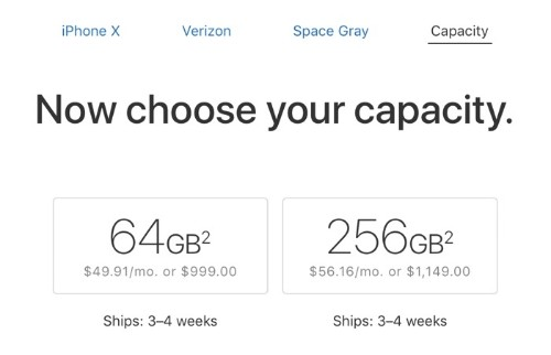 iPhone X Shipping Estimates Improve to 3-4 Weeks in the United States and Canada