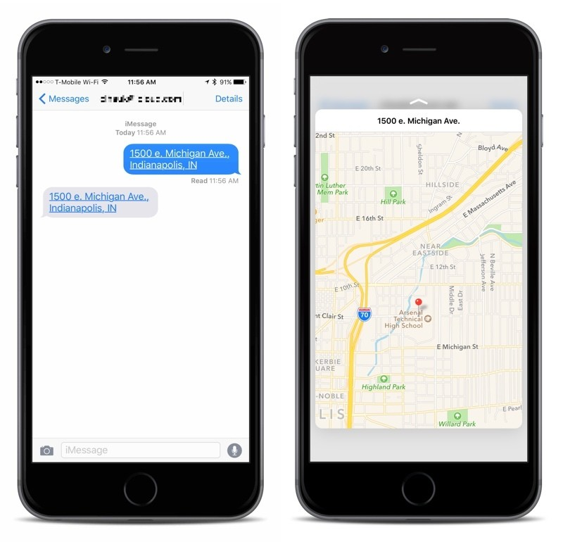 How To: Use 3D Touch to Get Directions from an Address in iMessages