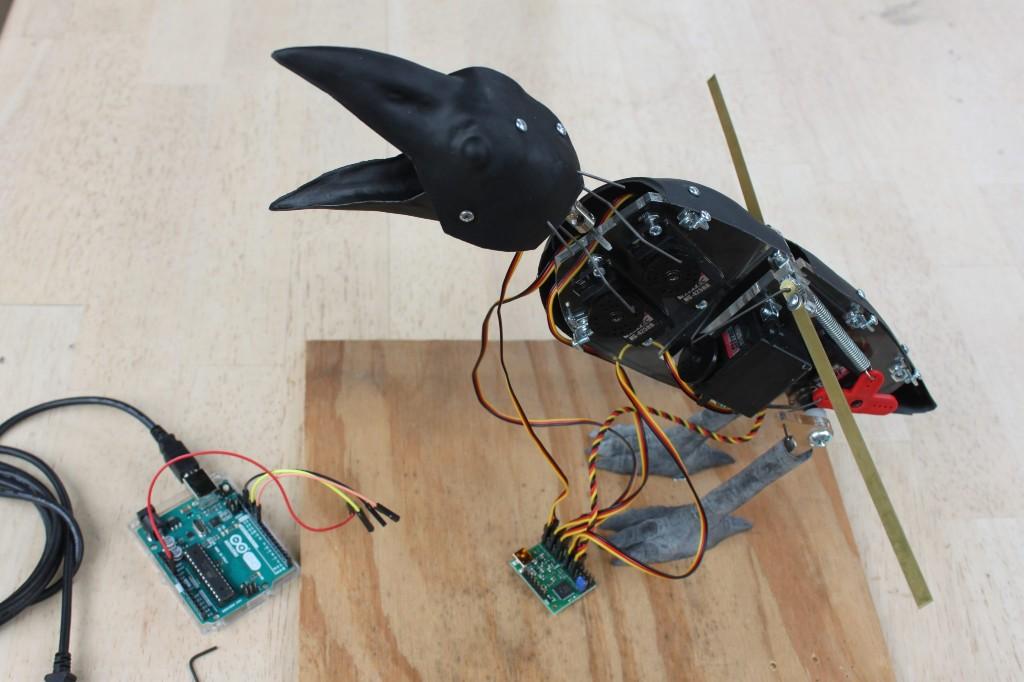 Build an Animatronic Raven Kit   Make:
