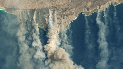The giant burn scar on Australia's Kangaroo Island is horrific