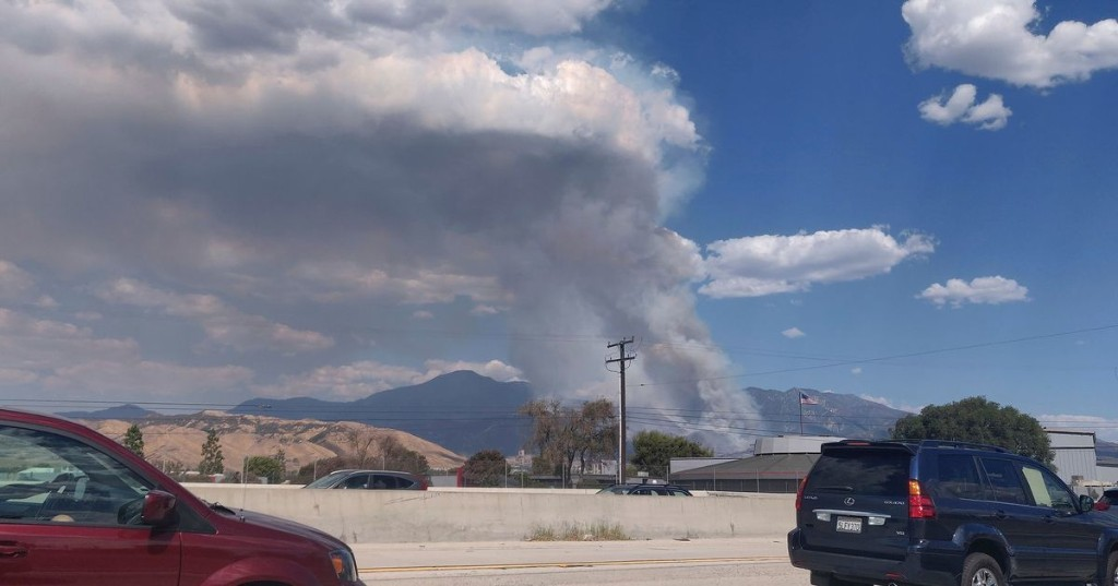 One of California's out of control fires was sparked by a gender reveal party explosion