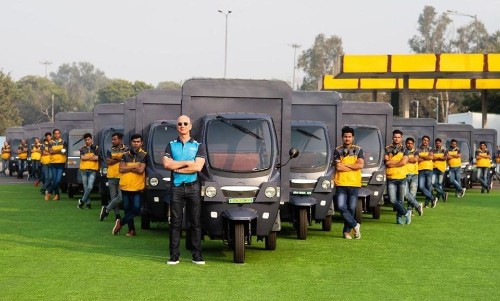 Amazon CEO Jeff Bezos Inaugurates Launch Of Electric Delivery Rickshaws In India - Tech