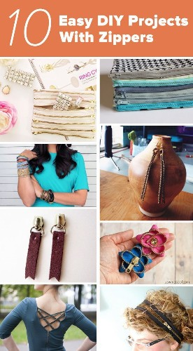 10 easy DIY projects you can do with zippers