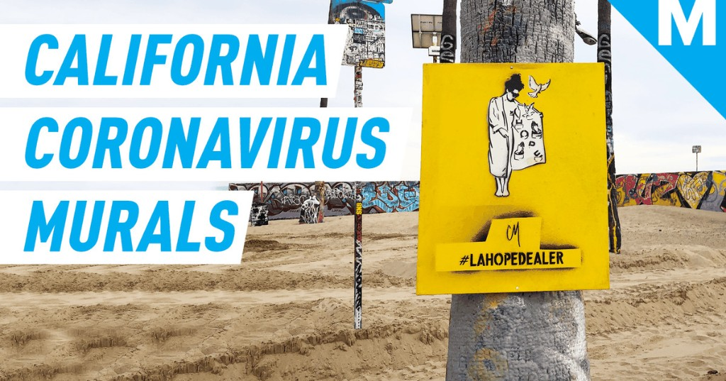 This artist is using her murals to help motivate people during the pandemic