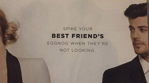 Bloomingdale's apologizes for ad suggesting you spike your best friend's eggnog