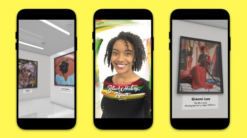 Enter Snapchat's VR art gallery to celebrate Black History Month