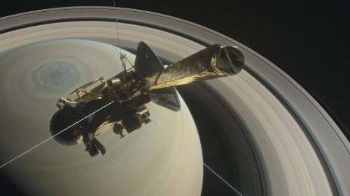 The sound of a spacecraft passing between Saturn and its rings is straight out of 'Alien'