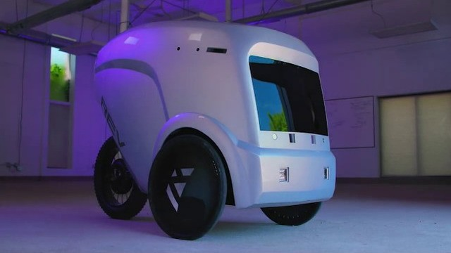 Off the sidewalk and into the bike lane: Autonomous delivery bot brings lunch orders
