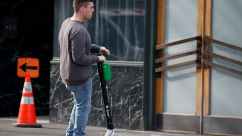 Finally, scooters that shame you for riding on the sidewalk