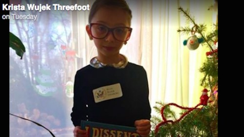Best kid ever dresses up as Ruth Bader Ginsburg for 'Superhero Day,' and ugh, we're crying now