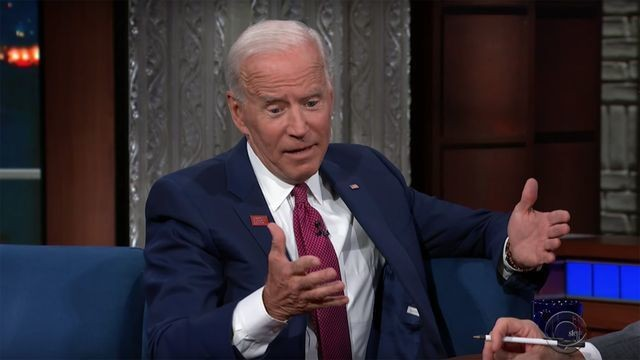 Joe Biden's quick response to Stephen Colbert's gaffe dig is undeniably excellent