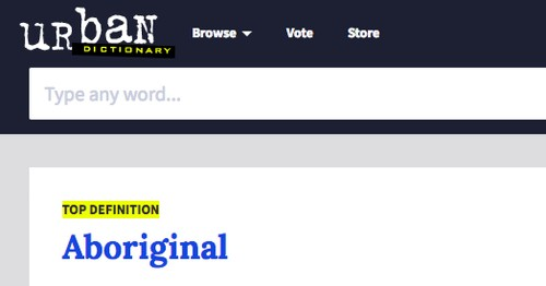 Urban Dictionary wipes offensive and racist definitions for 'aboriginal'