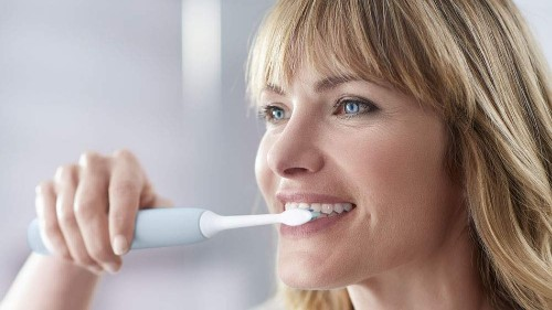 This electric toothbrush uses sonic technology for better results