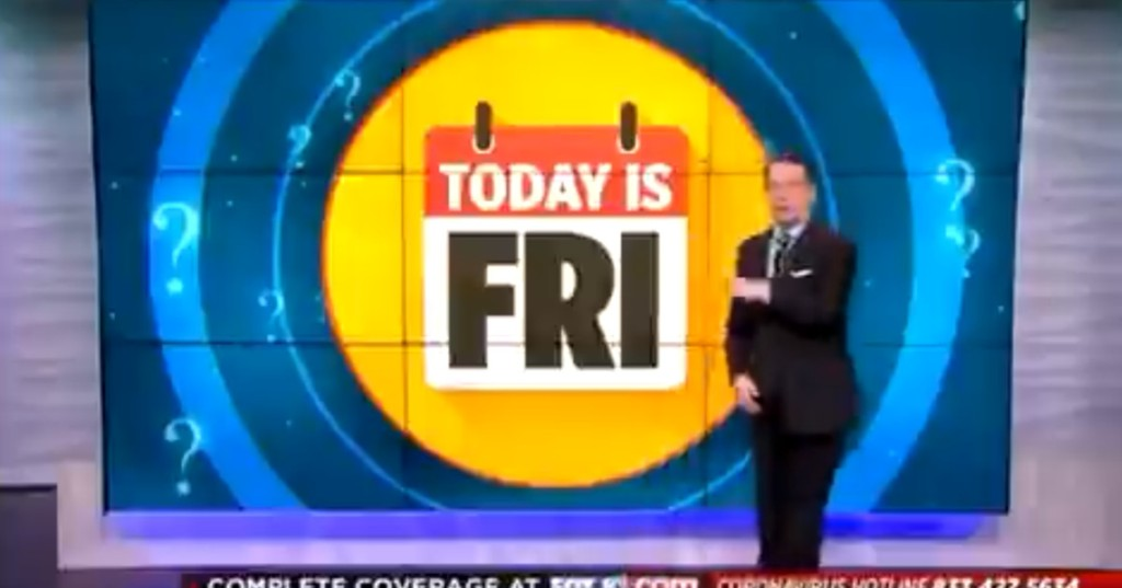 A local news station has a helpful new segment: What Day Is It?