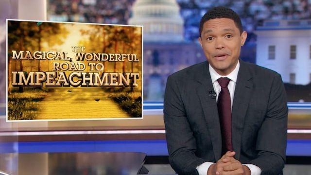 Trevor Noah has the perfect compilation album for Trump's impeachment